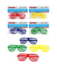 SC004 Funky Shades $1.40 plus GST You'll be too cool for school with these funky shades!  Another great accessory from our Sports Carnival range!  One size fits all.  Available in 4 colours: red, blue, green and yellow.  New product.
