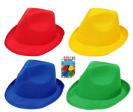 SC006 Fedora Hat $2.00 plus GST Our ultra cool fedora hats are sure to be a winner!  One size fits all.  Available in 4 colours: red, blue, green and yellow.  New product.