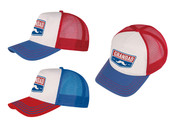 "FD2013 GRANDAD TRUCKER CAP $3.00 plus GST  Keep Grandad SunSmart with our Trucker Cap, it ticks the boxes of fabulous and functional!   Product Info: a tri-colour trucker cap with logo that says ""Grandad"", available in 2 colour combinations.  Adjustable snap at back."