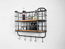 Hanging Industrial Wall Shelf