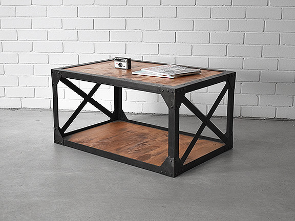 Industrial Style Coffee Table. Loading Zoom