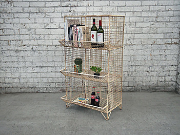 Industrial Wire Bookshelf