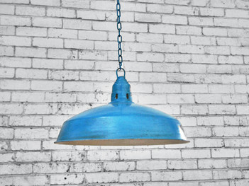 Retro Blue Pendant Shade