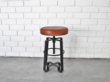 Adjustable Leather Stool