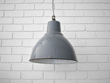 Vintage Pendant Light Grey