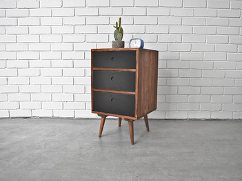 Scandi Nightstand Black