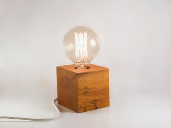 Wooden Cube LED Light