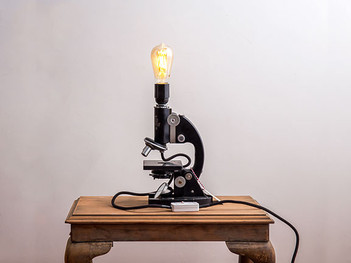 Vintage Microscope LED Lamp