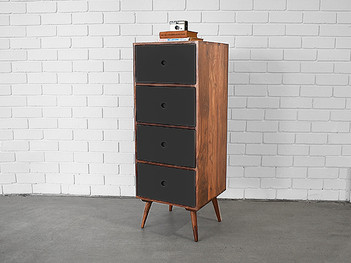Wooden Tallboy Four Drawers