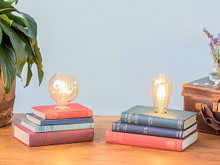Vintage  Book Stack Lamp
