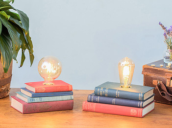 Up-cycled Book Lamp