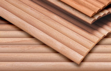 Half Round Slat Tambours  - Oak, Cherry, Alder, or Maple