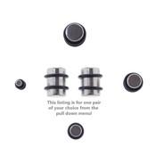Pair of Steel Ear Plugs Earlet Gauges w/Flat Ends 10G-00 Gauge-Lex and Lu
