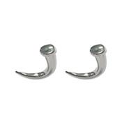 Pair of Cast Steel Taper Expander Plug Talon 8-00G Earrings-103-Lex and Lu