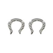 Pair of Cast Steel Taper Expander Plug Talon 8-4G Earrings-119-Lex and Lu