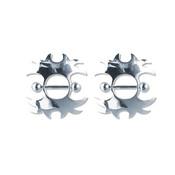 Pair of Steel Barbell w/Nipple Shields Rings, 14 Gauge-101-Lex and Lu