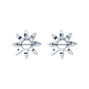 Pair of Steel Barbell w/Nipple Shields Rings, 14 Gauge-108-Lex and Lu