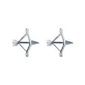 Pair of Steel Barbell w/Nipple Shields Rings, 14 Gauge-110-Lex and Lu
