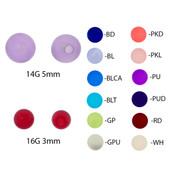 Pair of Acrylic UV Sensitive Illusion Threaded Replacement Balls 16&14 Gauge-Lex and Lu