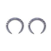 Pair of Cast Steel Tribal Taper Plug Pinchers Piercing BDPC103-Lex and Lu