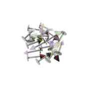 "Body Jewelry 20 Pack Assorted Acrylic Labrets w/Spikes 16G 5/16""-Lex and Lu"