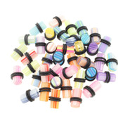 20 Pair of Acrylic UV Sensitive Layered Ear Plugs w/O-Rings