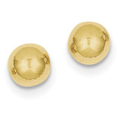 10k Yellow Gold Polished 8mm Ball Post Earrings 10X8MMG-Lex and Lu