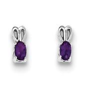 Sterling Silver Amethyst Earrings QBE20FEB-Lex and Lu