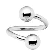 Lex and Lu Steel Twist Helix Ring Earring Body Piercing 16&14 Gauge