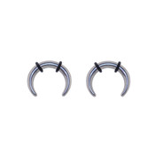 Lex and Lu Pair of Steel Pinchers Stretcher Taper Plugs w/O-Rings 12 or 10G