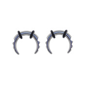 Lex and Lu Pair of Steel Notched Pincher Taper Plugs w/O-rings 12,8&6 Gauge