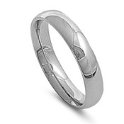 Lex and Lu 5mm High Polish Stainless Steel Comfort Fit Wedding Band Ring Size5-12