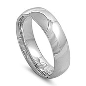 Lex and Lu 7mm High Polish Stainless Steel Comfort Fit Wedding Band Ring Size7-14