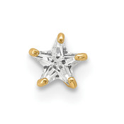 14k Yellow Gold 18 Gauge CZ Star Labret/Face Jewelry BD118-Lex and Lu