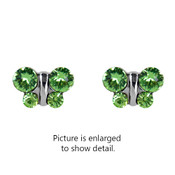 Studex STUDEX Sensitive Stainless Steel Butterfly Peridot CZ Fashion Earrings 2008W-2