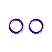 "Lex and Lu Pair of Titanium Seamless Captive 10 Gauge 7/16"" Dia Purple"