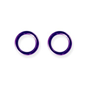 "Lex and Lu Pair of Titanium Seamless Captive 12 Gauge 3/8"" Dia Purple"
