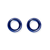 "Lex and Lu Pair of Titanium Seamless Captive 6 Gauge 1/2"" Dia Blue"