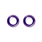 "Lex and Lu Pair of Titanium Seamless Captive 6 Gauge 1/2"" Dia Purple"