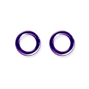 "Lex and Lu Pair of Titanium Seamless Captive 8 Gauge 1/2"" Dia Purple"