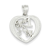 Lex and Lu Sterling Silver # 1 Mom Charm
