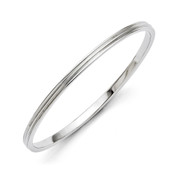 Chisel Stainless Steel Polished Bangle  SRB1277-Lex and Lu
