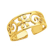 14k Floral Toe Ring C2062-Lex and Lu