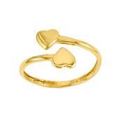 14k Double Heart Toe Ring D1935-Lex and Lu
