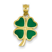 14k Enameled Clover Charm FB594-Lex and Lu