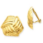 14k Omega Clip Non-pierced Earrings H908-Lex and Lu