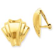 14k Omega Clip Polished Non-pierced Earrings H916-Lex and Lu