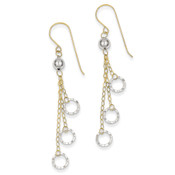 14k Two-tone Gold Circle Dangle Earrings TL480-Lex and Lu