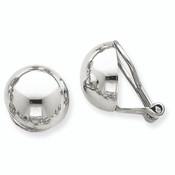 14k White Gold Polished Non-pierced Back Earrings TM286-Lex and Lu