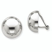 14k White Gold Polished Non-pierced Earrings TM291-Lex and Lu
